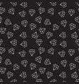 diamonds dark random seamless pattern or vector image vector image