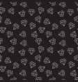 diamonds dark random seamless pattern vector image