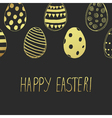 easter card gold dark vector image vector image