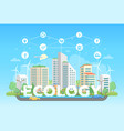 eco-friendly district - modern flat design style vector image vector image