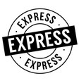 express stamp on white vector image vector image