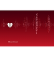 Fall in love heart beats cardiogram design vector image