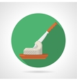 Flat color icon for butter and knife vector image