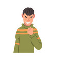 furious young man male character facial emotions vector image vector image