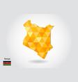 geometric polygonal style map of kenya low poly