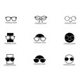 glasses logo design vector image