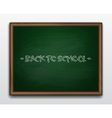Green chalkboard in wooden frame vector image vector image