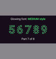 green glowing font in the outline style vector image