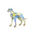 Greyhound Dog Side Mosaic vector image vector image