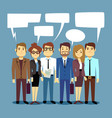 group of business people talking teamwork vector image vector image