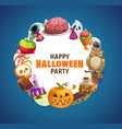 halloween pumpkin trick or treat candies ghost vector image vector image