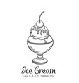hand drawn ice cream balls vector image