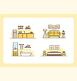 home collection line art design template vector image vector image
