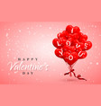 i love you happy valentines day background red vector image vector image