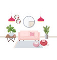 interior of living room full of comfortable vector image vector image