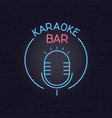 karaoke neon signboard retro sign for karaoke and vector image vector image