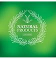 logo organic 06 vector image vector image