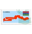 mail to-from Gambia vector image vector image