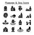Massage spa icon set