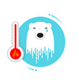melting polar bear - global warming may be a vector image