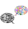 people icons in speech bubble vector image vector image