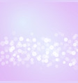 pink background with bokeh lights vector image