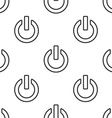 power on seamless pattern vector image vector image