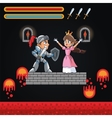 Princess warrior and videogame design vector image vector image