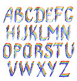 rainbow english alphabet letters vector image