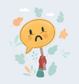 sad face on speech bubble vector image