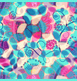 seamless floral background floral pattern with vector image vector image