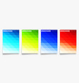 Set colorful gradient cover template design for