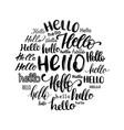 set handwritten phrase hello calligraphy vector image