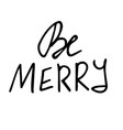 set of christmas lettering handwritten vector image