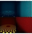 Set of four editable images vector image