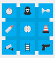 Set of simple crime icons
