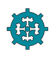 single gear icon image vector image vector image