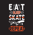 skater quotes and slogan good for t-shirt eat vector image vector image