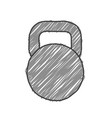 sketchy style kettlebell vector image