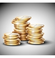 Stacks of coins vector image vector image