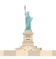 Statue of Liberty in America National symbol of vector image vector image