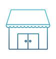 store shop building symbol vector image vector image