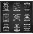 Success quotes set chalkboard vector image vector image