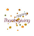 thanksgiving template vector image