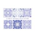 tile pattern lisbon floral mosaic vector image vector image