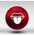 Tongue icon isolated human fun anatomical vector image