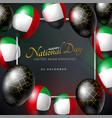 united arab emirates happy national day vector image