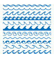 waves borders clipart vector image