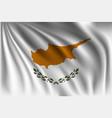 waving cyprus vector image vector image