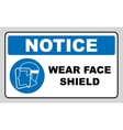 Wear a face shield vector image vector image